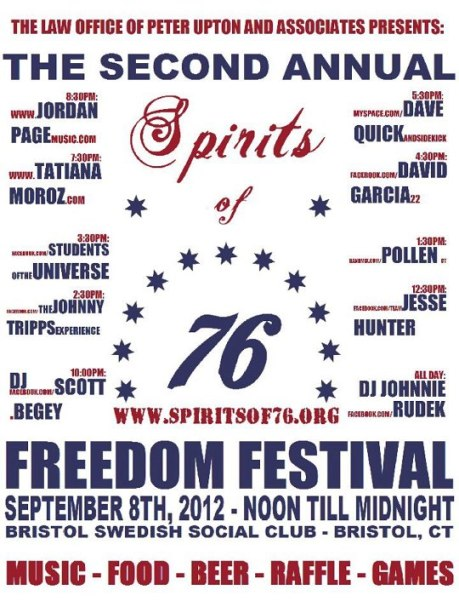 Happening: Spirits of '76's Second Annual Freedom Festival